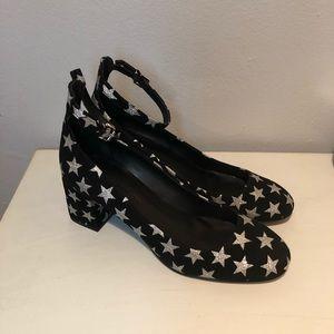 Rebecca Minkoff Shoes - NWT Rebecca Minkoff Metallic Suede Star Pumps